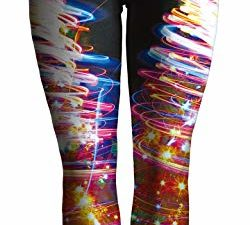 Alive Damen Fitness Yoga Sport Pants Digital Printed Stretch Knoechel Legging Strumpfhose Hose Einheitsgroesse 0