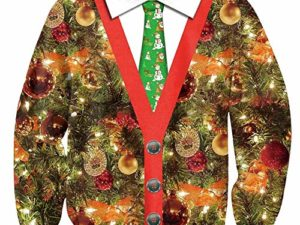 BesserBay Herren 3D Bedruckte Weihnachtspullover Weihnachten Lustiges Shirt 0