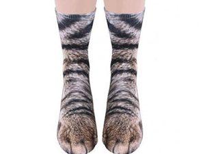 BigNoseDeer-Unisex-Erwachsener-Nette-Miezekatze-Katzen-Tatzen-Socken-Tierpfote-3D-Simulationsdruck-Mannschaftssocken-Fuer-Frauen-Maenner-1-Paare-0
