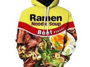 CONPLWS Unisex Ramen Huhn Nudelsuppe Rindfleisch Sweatshirt Tanktops Hoodies Plus Size 0