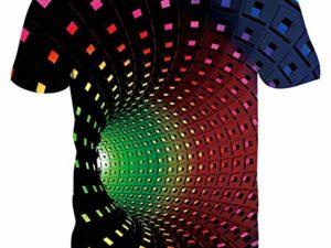 Goodstoworld Unisex 3D T Shirts Fuer Herren Damen Bunte Druck Kurzarm T Shirts Tee Tops S XXL 0