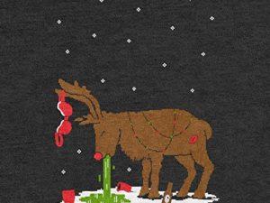 Green Turtle T Shirts Witziges Ugly Sweater Geschenk Verkatertes Rentier Sweatshirt 0 1