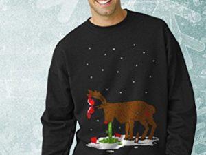 Green Turtle T Shirts Witziges Ugly Sweater Geschenk Verkatertes Rentier Sweatshirt 0 2
