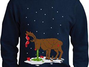 Green Turtle T Shirts Witziges Ugly Sweater Geschenk Verkatertes Rentier Sweatshirt 0
