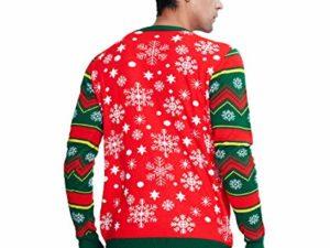 Idgreatim Unisex Weihnachtspullover Led Licht Strickpullover 3D Gedruckt Weihnachten Pullover Ugly Christmas Sweater Jumper 0 2