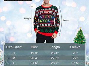 Idgreatim Unisex Weihnachtspullover Led Licht Strickpullover 3D Gedruckt Weihnachten Pullover Ugly Christmas Sweater Jumper 0 6
