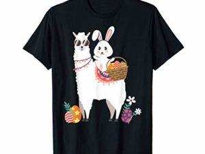 Llama-Hase-Osterei-Lustiges-Witziges-Ostern-Geschenk-Shirt-T-Shirt-0