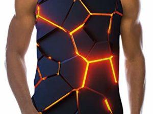 Loveternal Herren 3D Druck Tank Top Sommer Cool Muskelshirt 0