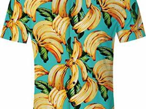 RAISEVERN-Sommer-Herren-Lustig-Hawaiihemd-Drucken-Shirt-Laessige-Kurzarm-Shirts-Outfits-Urlaub-Kleidung-Button-Hawaii-Aloha-Kleidung-M-XXL-0