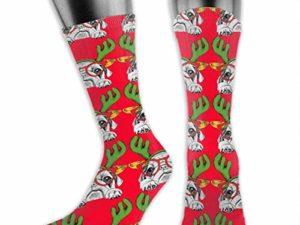 SVDziAeo Big DOG Scarf Haessliche Weihnachten Unisex The Calf Socken Crew Socks Lustige Sockenstiefelsocken 0 0