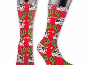 SVDziAeo Big DOG Scarf Haessliche Weihnachten Unisex The Calf Socken Crew Socks Lustige Sockenstiefelsocken 0