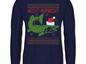 Shirtracer Weihnachten Silvester Hecht Ruprecht Herren Langarmshirt 0