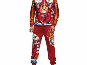 SomeTeam Herren Trainingsanzug Jogginghose Sweatshirt Pullover Hoodie Street Haesslich Muster Gedruckt Pullover Sweatshirt Jogginghose Gym Set 0