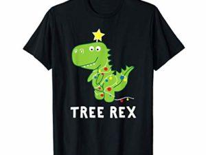 T Rex Dinosaurier Weihnachtsbaum Witzig Weihnachten T Shirt 0