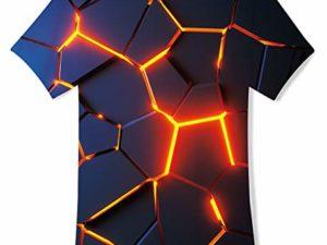TUONROAD-Jungen-Maedchen-T-Shirt-3D-Sommer-Casual-Kurzarm-Kinder-T-Shirts-0-0