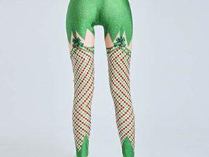 cinnamou Weihnachts Jogginghose Damen Frauen Weihnachts hohe Taillen Gamaschen Eignungs Sport athletische Hosen Laufen laesst Hochelastische eng anliegende Yogahose mit Weihnachtsmotiv 0 0