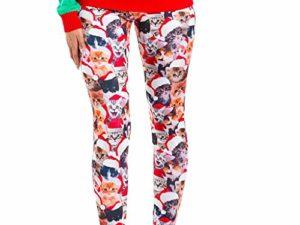 cinnamou Weihnachtshose Leggings Damen Frauen gedruckt Yoga Fitness Leggings Running Gym Stretch Sporthosen Hosen Digital gedruckte Weihnachtsgamaschen 0